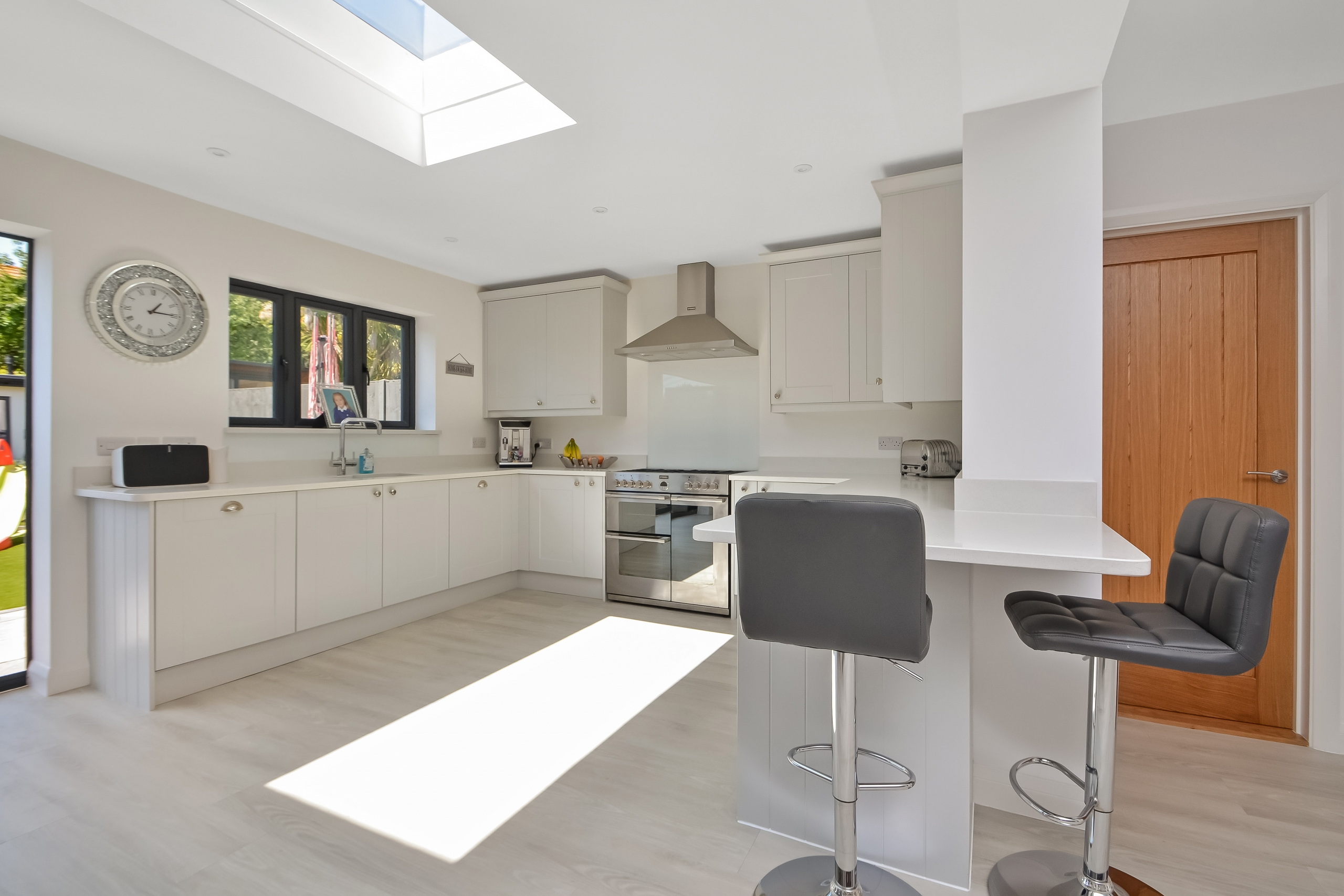 After photo of house renovation and loft conversion kitchen skylight in Portsmouth by building consultant Thorns Young Architectural